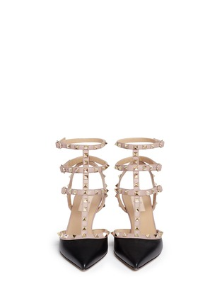 Figure View - Click To Enlarge - Valentino - 'Rockstud' caged calfskin leather pumps