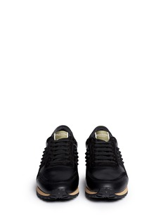 Valentino Rubber Rockstud leather suede sneakers