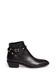 Valentino 'Rockstud' strap leather ankle boots