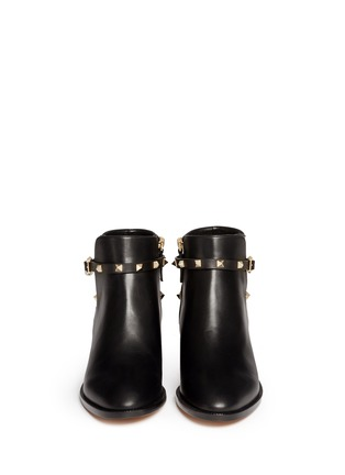 Valentino - 'Rockstud' strap leather ankle boots