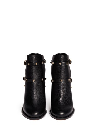 Figure View - Click To Enlarge - Valentino - 'Rockstud' strap leather ankle boots