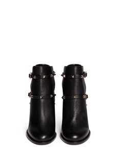 VALENTINO'Rockstud' strap leather ankle boots