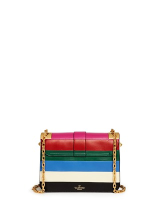 Valentino - 'B-Rockstud' stripe leather shoulder bag