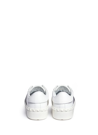 Back View - Click To Enlarge - Valentino - 'Rockstud' contrast panel leather sneakers