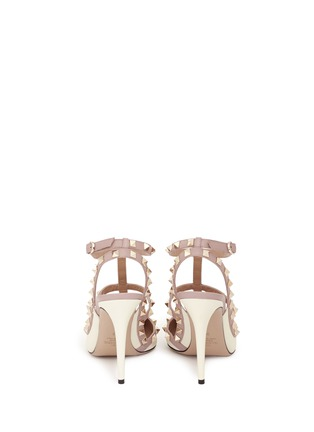 Back View - Click To Enlarge - Valentino - 'Rockstud' caged calfskin leather pumps
