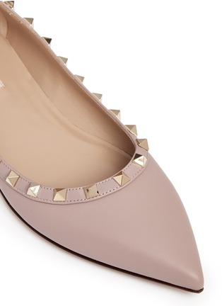 Detail View - Click To Enlarge - Valentino - 'Rockstud' leather skimmer flats