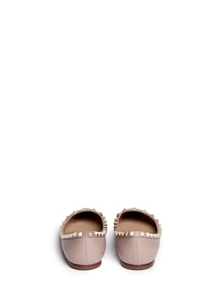 Back View - Click To Enlarge - Valentino - 'Rockstud' leather skimmer flats