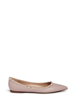 Main View - Click To Enlarge - Valentino - 'Rockstud' leather skimmer flats