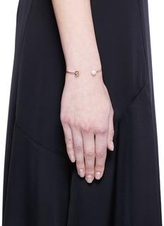 Sophie Bille Brahe'Deesse Petite Perle' 14k yellow gold pearl cuff