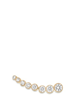 Main View - Click To Enlarge - Sophie Bille Brahe - 'Croissant de Lune' diamond 18k yellow gold single earring
