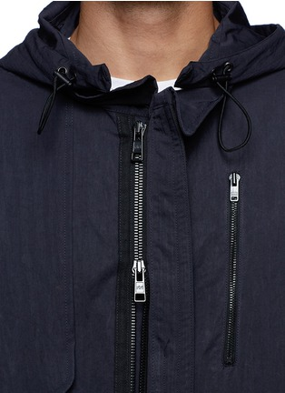 细节 - 点击放大 - TIM COPPENS - Detachable hood cotton-nylon parka