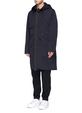 正面 -点击放大 - TIM COPPENS - Detachable hood cotton-nylon parka