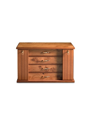 Main View - Click To Enlarge - Agresti - Elm briar wood four-drawer jewellery chest