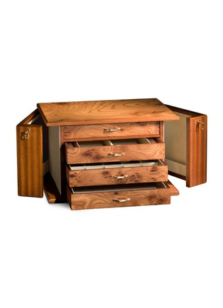 - Agresti - Elm briar wood four-drawer jewellery chest