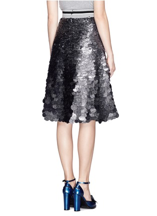 Back View - Click To Enlarge - MSGM - Sequin paillettes flare skirt