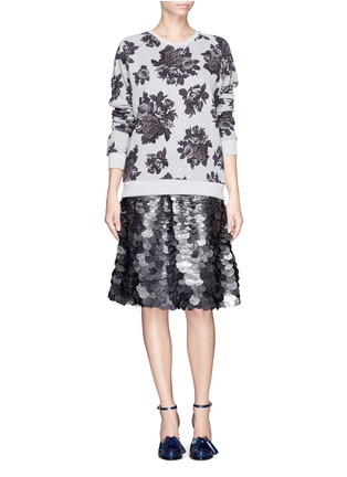 Figure View - Click To Enlarge - MSGM - Sequin paillettes flare skirt