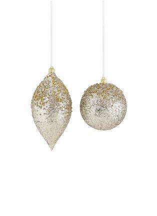 Main View - Click To Enlarge - Kurt S Adler - Glitter bauble Christmas ornament set