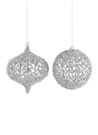 Main View - Click To Enlarge - Kurt S Adler - Cutout drop bauble Christmas ornament set