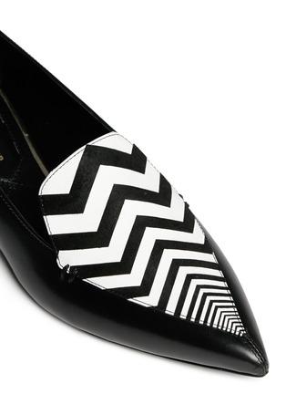 细节 - 点击放大 - NICHOLAS KIRKWOOD - 真皮尖头平底鞋