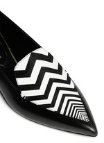 'Apron' chevron vamp leather loafers