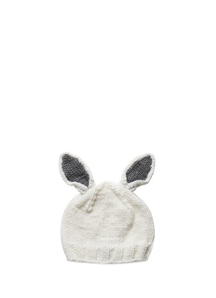 Main View - Click To Enlarge - THE BLUEBERRY HILL - 'Bailey' bunny ear kids beanie