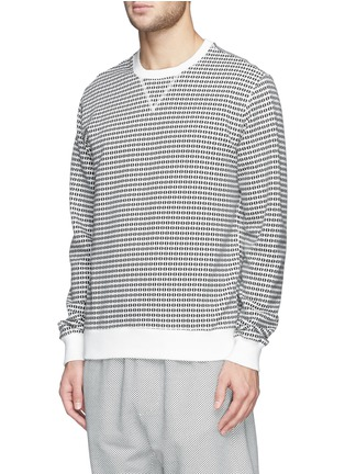Front View - Click To Enlarge - MAURO GRIFONI - Semi circle print cotton terry sweatshirt