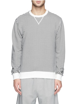 Main View - Click To Enlarge - MAURO GRIFONI - Semi circle print cotton terry sweatshirt