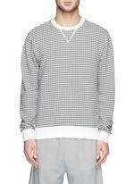 Semi circle print cotton terry sweatshirt