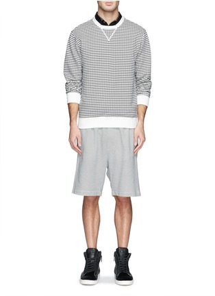 Figure View - Click To Enlarge - MAURO GRIFONI - Semi circle print cotton terry sweatshirt
