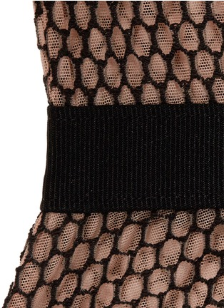 Detail View - Click To Enlarge - FLEUR DU MAL - 'Cage Lace' tulle satin bodysuit