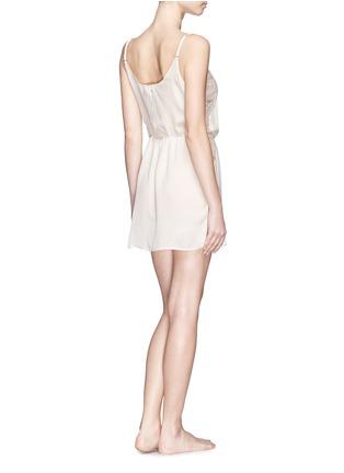 背面 - 点击放大 - FLEUR DU MAL - Rose Lace' lace silk georgette slip