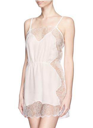首图 - 点击放大 - FLEUR DU MAL - Rose Lace' lace silk georgette slip