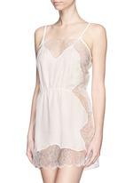 Rose Lace' lace silk georgette slip