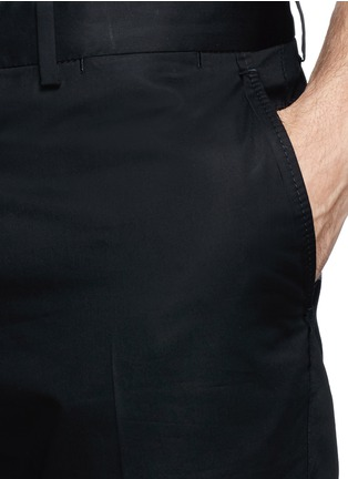 Detail View - Click To Enlarge - Lanvin - Compact cotton satin chinos
