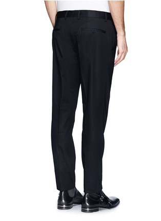 Back View - Click To Enlarge - Lanvin - Compact cotton satin chinos
