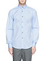 Grosgrain placket trim poplin shirt