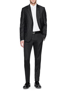 Alexander McQueen Contrast belt cotton twill pants