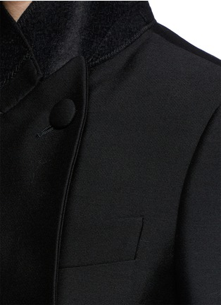 细节 - 点击放大 - ALEXANDER MCQUEEN - Asymmetric wool-silk double breasted jacket