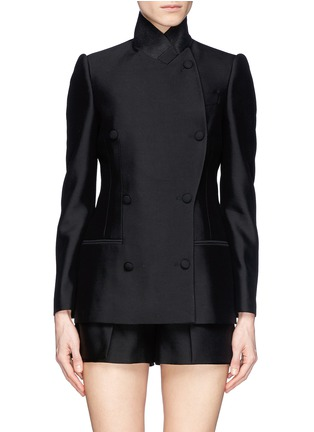 首图 - 点击放大 - ALEXANDER MCQUEEN - Asymmetric wool-silk double breasted jacket