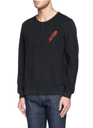 正面 -点击放大 - ALEXANDER MCQUEEN - Feather embroidery sweatshirt