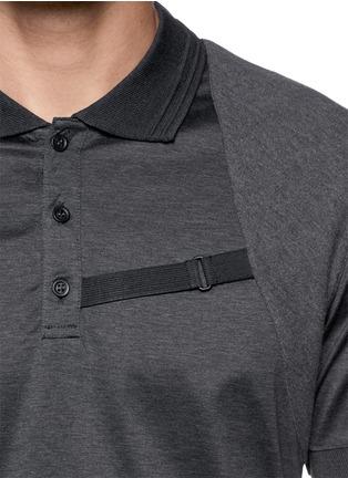 细节 - 点击放大 - Alexander McQueen - Harness polo shirt