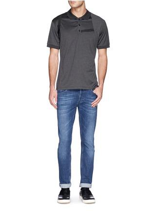 模特儿示范图 - 点击放大 - ALEXANDER MCQUEEN - Harness polo shirt