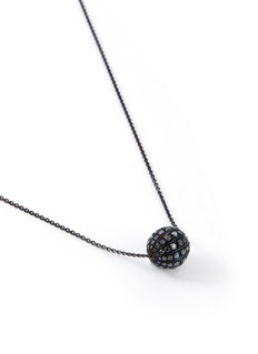 LC COLLECTION JEWELLERY Ruby 18k gold disco ball pendant necklace