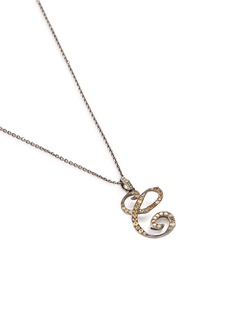 LC Collection Jewellery Diamond 18k gold letter pendant necklace – C