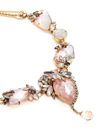 Detail View - Click To Enlarge - Erickson Beamon - 'Marchesa' iridescent gemstone necklace