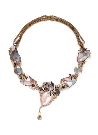 Main View - Click To Enlarge - Erickson Beamon - 'Marchesa' iridescent gemstone necklace