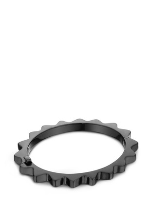 Main View - Click To Enlarge - Lynn Ban - 'Thin Gear' black rhodium silver bangle