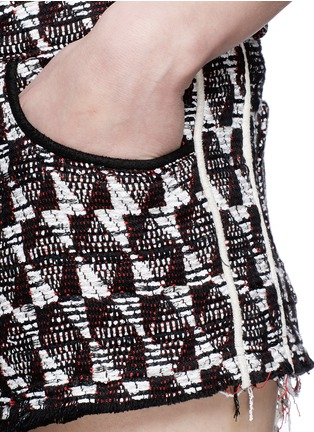 Detail View - Click To Enlarge - IRO - Frayed edge cotton-blend tweed shorts