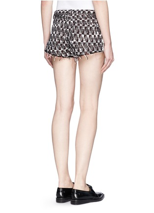 Back View - Click To Enlarge - IRO - Frayed edge cotton-blend tweed shorts