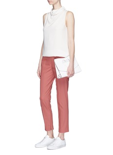 Theory 'Alettah' zip cuff cropped pants